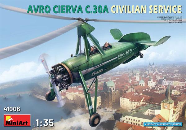 アブロ シェルヴァ C.30 民間機プラモデル(ミニアートエアクラフトミニチュアシリーズNo.41006)商品画像