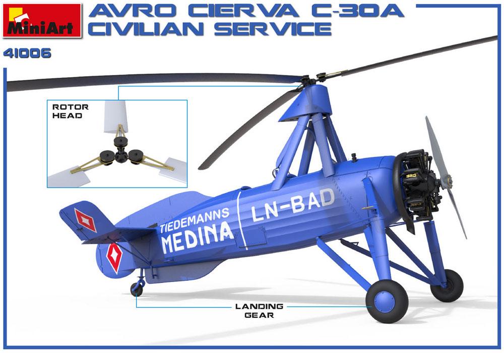 アブロ シェルヴァ C.30 民間機プラモデル(ミニアートエアクラフトミニチュアシリーズNo.41006)商品画像_1