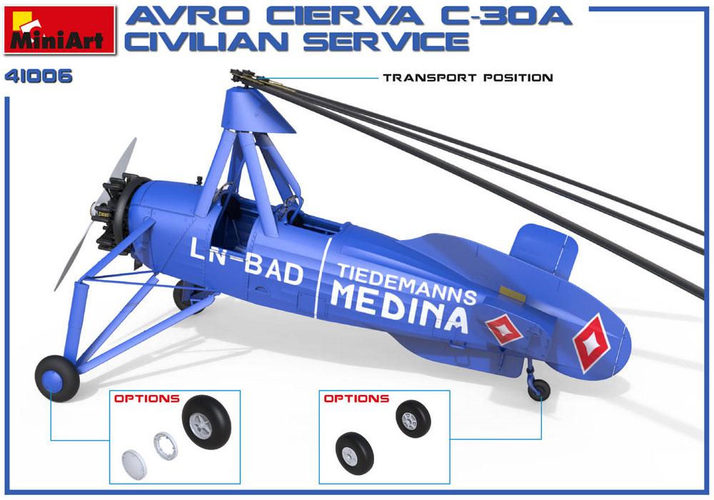 アブロ シェルヴァ C.30 民間機プラモデル(ミニアートエアクラフトミニチュアシリーズNo.41006)商品画像_2