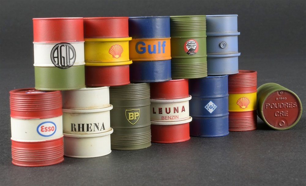 燃料 & オイル ドラム缶 1930-50sプラモデル(ミニアート1/35 ビルディング&アクセサリー シリーズNo.35613)商品画像_2