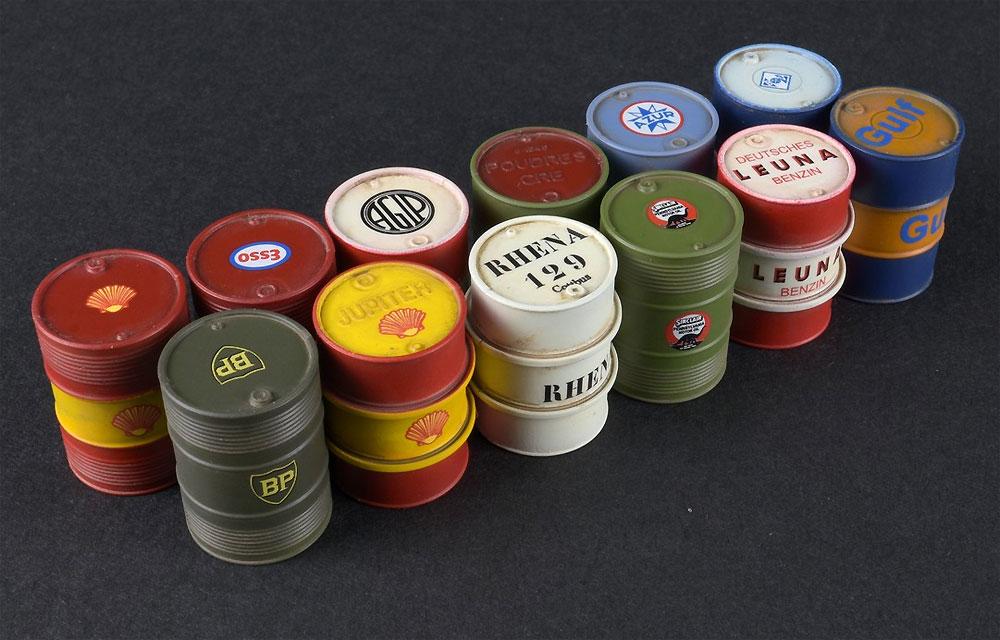 燃料 & オイル ドラム缶 1930-50sプラモデル(ミニアート1/35 ビルディング&アクセサリー シリーズNo.35613)商品画像_3