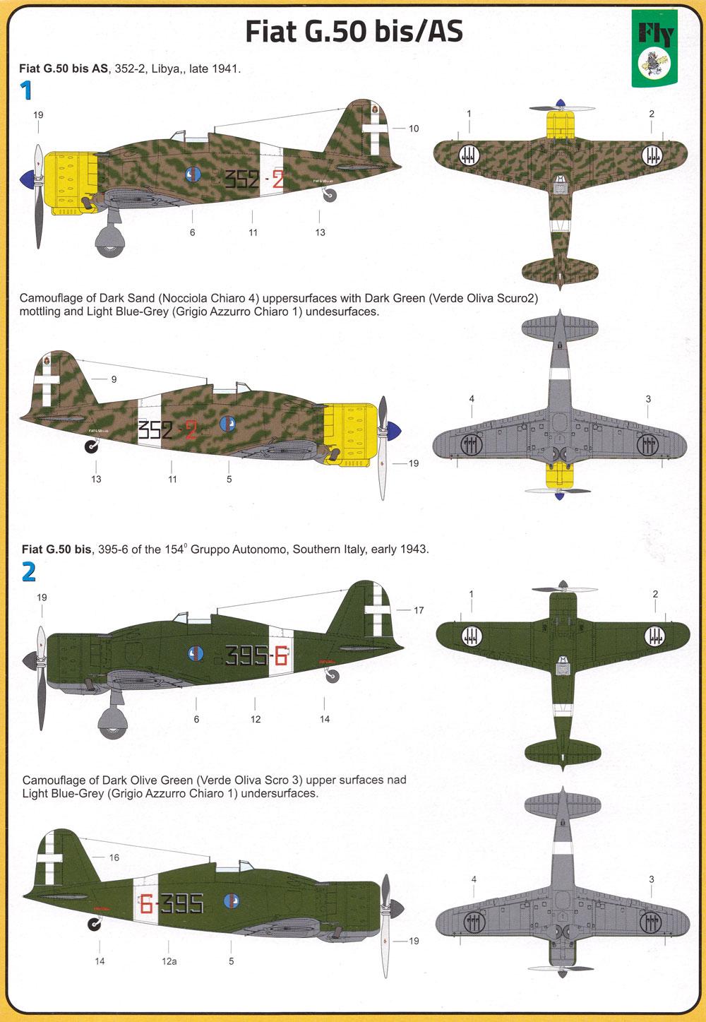 フィアット G.50 bis/ASプラモデル(フライ1/72 エアクラフト プラモデルNo.72049)商品画像_1
