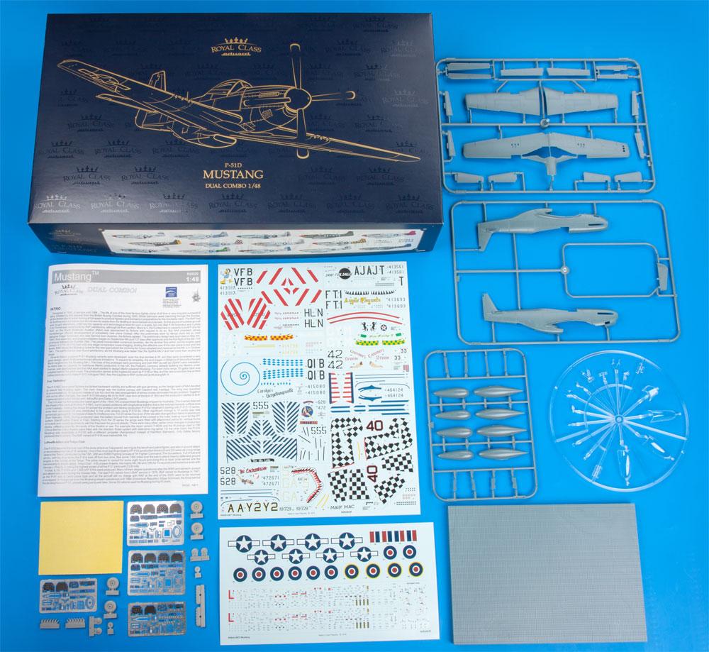 P-51D マスタング デュアルコンボプラモデル(エデュアルド1/48 ロイヤルクラスNo.R0020)商品画像_1