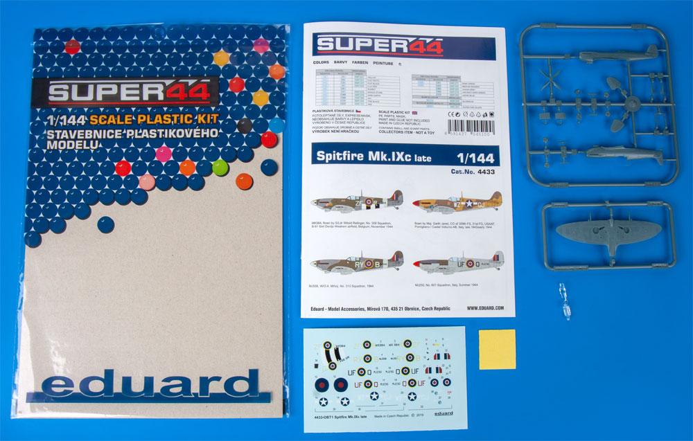スピットファイア Mk.9c 後期型プラモデル(エデュアルド1/144 SUPER44No.4433)商品画像_1