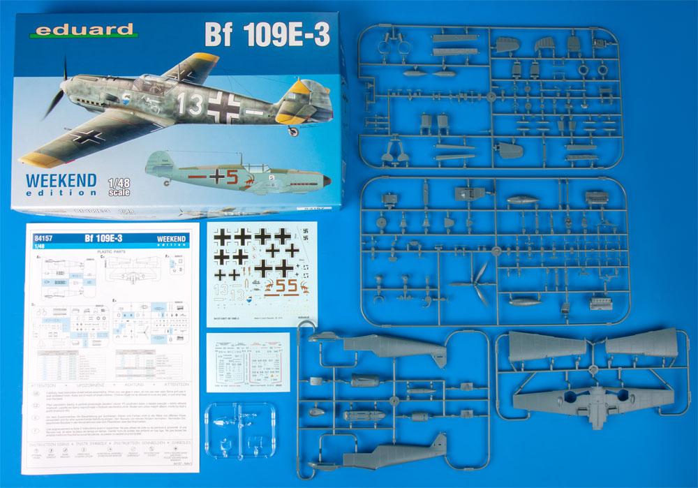 メッサーシュミット Bf109E-3プラモデル(エデュアルド1/48 ウィークエンド エディションNo.84157)商品画像_1