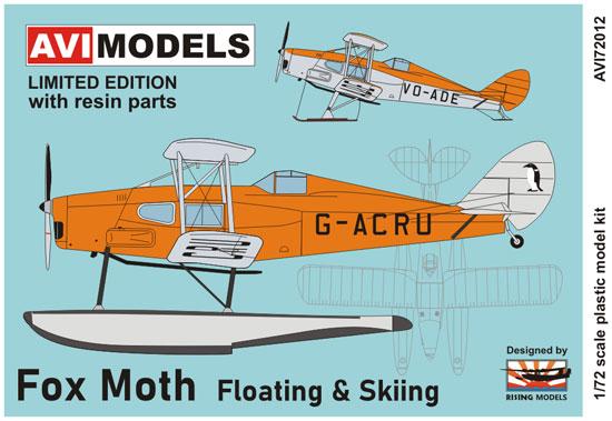 デ・ハビランド D.H.83 フォックス・モス フロート & スキープラモデル(AVIモデル1/72 エアクラフト プラモデルNo.AVI72012)商品画像