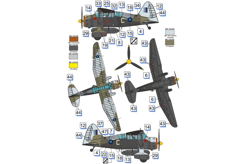 ウェストランド ライサンダー Mk.3 (SD) 特殊作戦機プラモデル(ドラ ウイングス1/72 エアクラフト プラモデルNo.DW72023)商品画像_3