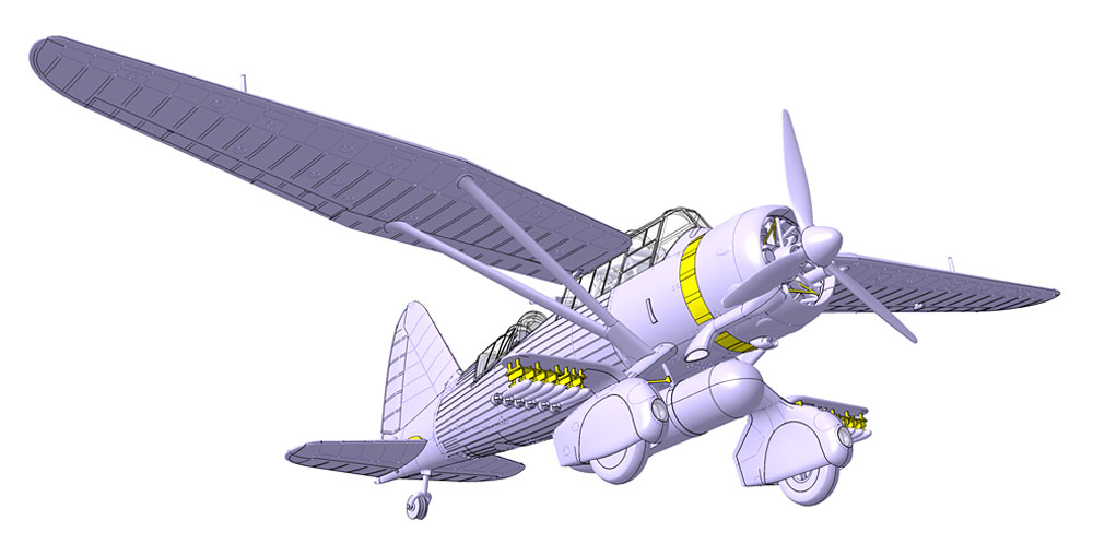 ウェストランド ライサンダー Mk.3 (SD) 特殊作戦機プラモデル(ドラ ウイングス1/72 エアクラフト プラモデルNo.DW72023)商品画像_4