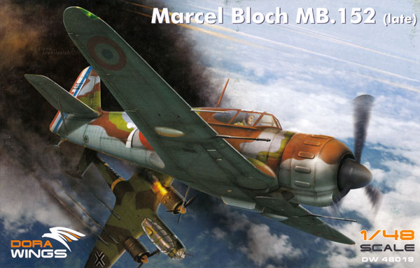 ブロック MB.152 後期型プラモデル(ドラ ウイングス1/48 エアクラフト プラモデルNo.DW48019)商品画像
