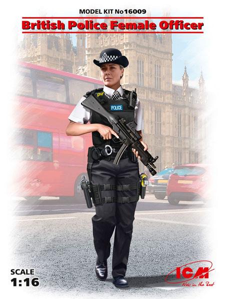 イギリス 女性警察官プラモデル(ICM1/16 ワールドガードNo.16009)商品画像