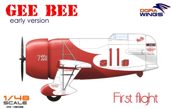 ジービー R1 レース機 初飛行プラモデル(ドラ ウイングス1/48 エアクラフト プラモデルNo.DW48026)商品画像