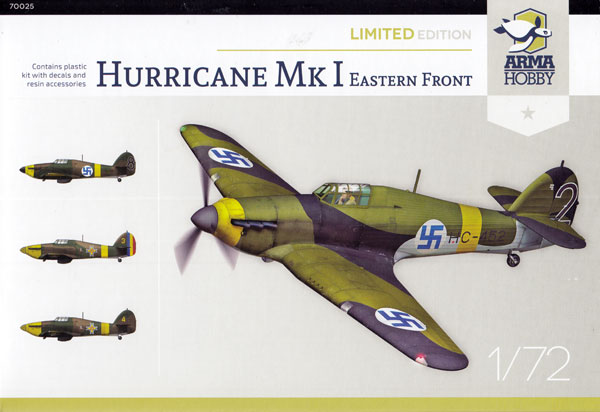 ホーカー ハリケーン Mk.1 東部戦線 リミテッドエディションプラモデル(アルマホビー1/72 エアクラフト プラモデルNo.70025)商品画像