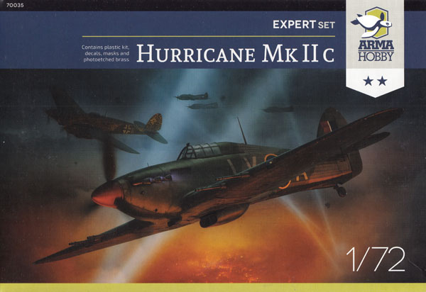 ホーカー ハリケーン Mk.2c エキスパートセットプラモデル(アルマホビー1/72 エアクラフト プラモデルNo.70035)商品画像