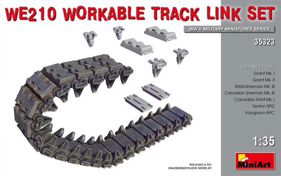 WE210 履帯セット 連結可動式プラモデル(ミニアート1/35 WW2 ミリタリーミニチュアNo.35323)商品画像