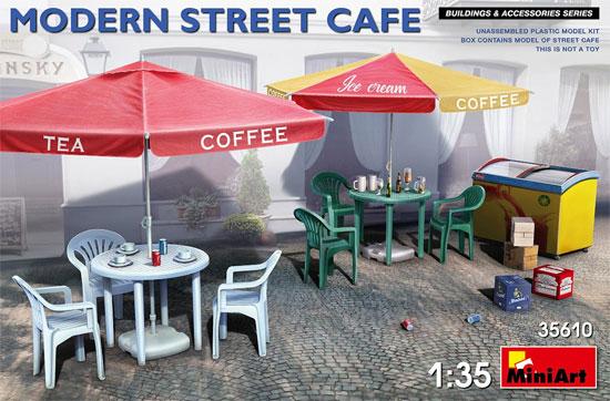 モダンストリートカフェプラモデル(ミニアート1/35 ビルディング&アクセサリー シリーズNo.35610)商品画像