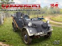 ICM1/35 ミリタリービークル・フィギュアドイツ le.gl. Pkw Kfz.2 軽四輪駆動 無線搭載車