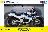 アオシマ1/12 完成品バイクシリーズスズキ RG250γ ブルーxホワイト
