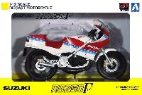 アオシマ1/12 完成品バイクシリーズスズキ RG250γ レッドxホワイト