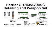 MARK 1アクセサリーハリアー GR.1/3/ AV-8A/C ディテール & ウェポンセット