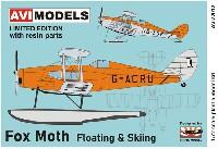 AVIモデル1/72 エアクラフト プラモデルデ・ハビランド D.H.83 フォックス・モス フロート & スキー