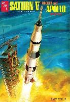 amtプラスチックモデルキット1/200 アポロ11号 月面着陸50周年記念 サターンV型ロケット