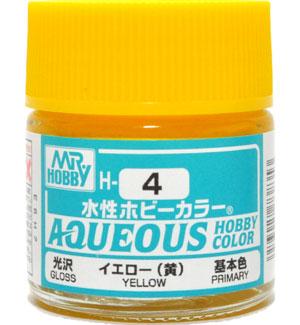 イエロー (黄) 光沢 (H-4)塗料(GSIクレオス水性ホビーカラー AQUEOUSNo.H-004)商品画像