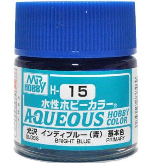 インディブルー (青) 光沢 (H-15)塗料(GSIクレオス水性ホビーカラー AQUEOUSNo.H-015)商品画像
