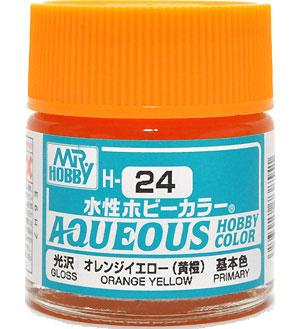 オレンジイエロー (黄橙) 光沢 (H-24)塗料(GSIクレオス水性ホビーカラー AQUEOUSNo.H-024)商品画像