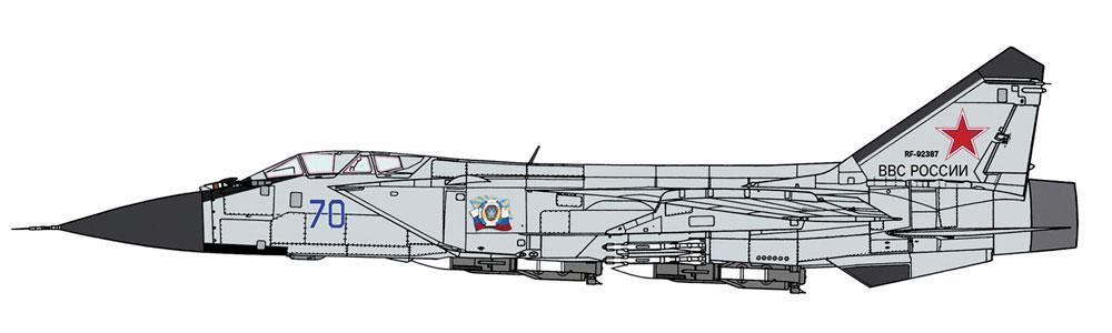 ミグ 31B フォックスハウンドプラモデル(ハセガワ1/72 飛行機 限定生産No.02321)商品画像_2
