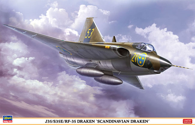 J35/S35E/RF-35 ドラケン スカンジナビアン ドラケンプラモデル(ハセガワ1/48 飛行機 限定生産No.07482)商品画像