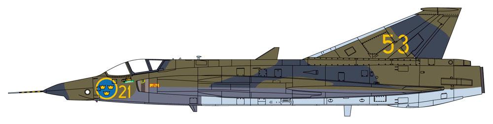 J35/S35E/RF-35 ドラケン スカンジナビアン ドラケンプラモデル(ハセガワ1/48 飛行機 限定生産No.07482)商品画像_1