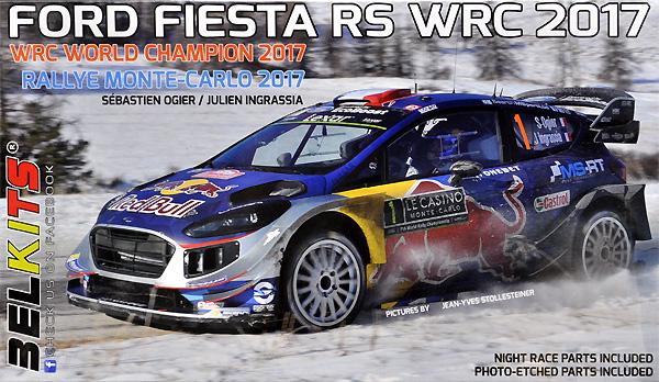 フォード フィエスタ RS WRC 2017 ラリー モンテカルロ 2017 セバスチャン・オジェ/ジュリアン・イングラシアプラモデル(BELKITS1/24 PLASTIC KITSNo.BEL-012)商品画像