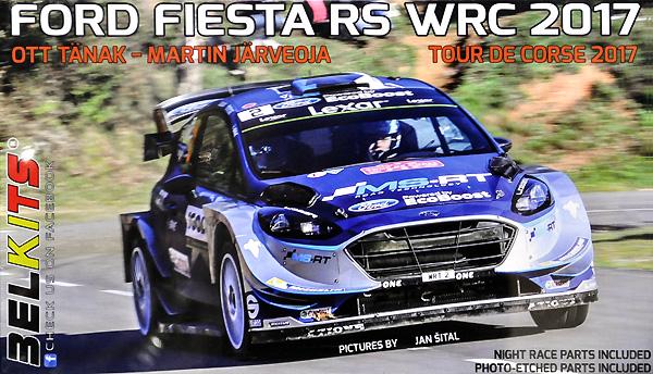 フォード フィエスタ RS WRC 2017 ツール・ド・コルス 2017 オット・タナク/マーティン・ヤルベオヤプラモデル(BELKITS1/24 PLASTIC KITSNo.BEL-013)商品画像