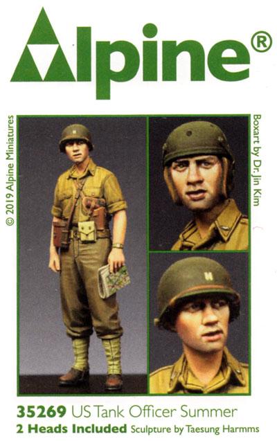 WW2 アメリカ戦車兵 夏場にジャケットを脱いだ戦車兵士官レジン(アルパイン1/35 フィギュアNo.35269)商品画像