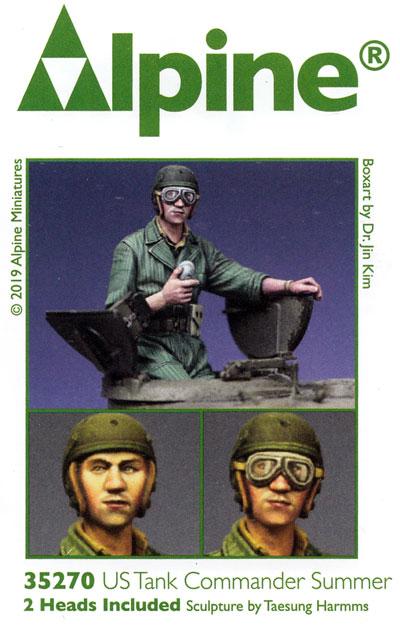 WW2 アメリカ戦車兵 腕捲りした夏場の戦車長レジン(アルパイン1/35 フィギュアNo.35270)商品画像