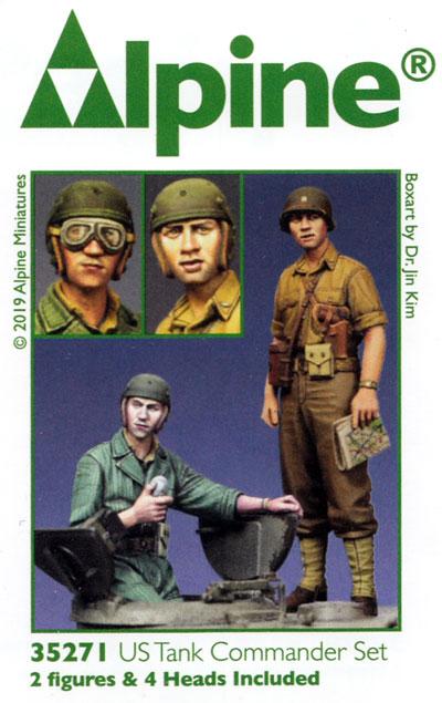 WW2 アメリカ戦車兵セット 暑さで腕捲りした戦車兵 (2体入り)レジン(アルパイン1/35 フィギュアNo.35271)商品画像