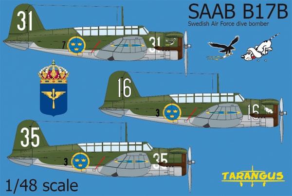 サーブ B17B 急降下爆撃機プラモデル(タラングス1/48 エアクラフト プラモデルNo.TA4810)商品画像