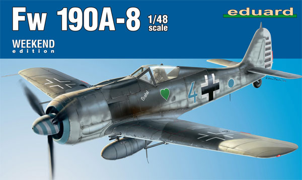 フォッケウルフ Fw190A-8プラモデル(エデュアルド1/48 ウィークエンド エディションNo.84122)商品画像