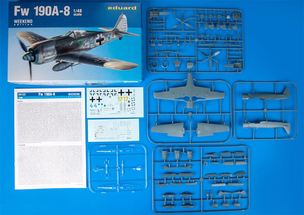 フォッケウルフ Fw190A-8プラモデル(エデュアルド1/48 ウィークエンド エディションNo.84122)商品画像_1
