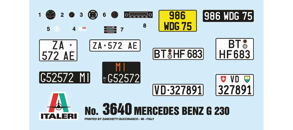 メルセデス ベンツ G230 ゲレンデヴァーゲンプラモデル(イタレリ1/24 カーモデルNo.3640)商品画像_2