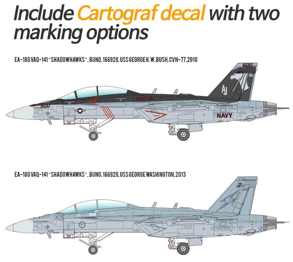 アメリカ海軍 EA-18G グラウラー VAQ-141 シャドーホークスプラモデル(アカデミー1/72 AircraftsNo.12560)商品画像_2