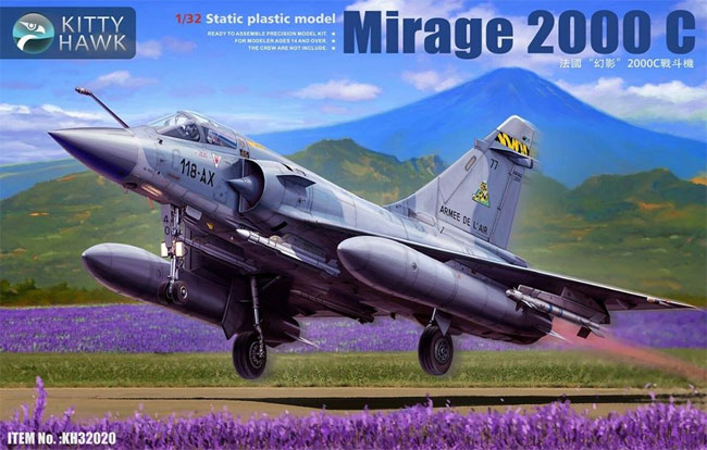 ミラージュ 2000Cプラモデル(キティホーク1/32 エアモデルNo.KH32020)商品画像