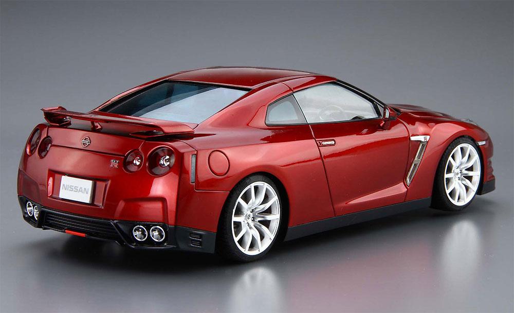 ニッサン R35 GT-R ピュアエディション '14プラモデル(アオシマ1/24 ザ・モデルカーNo.003)商品画像_3