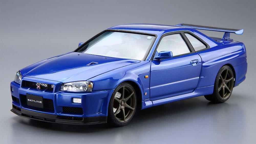 ニッサン BNR34 スカイライン GT-R V-spec2 '02プラモデル(アオシマ1/24 ザ・モデルカーNo.008)商品画像_2
