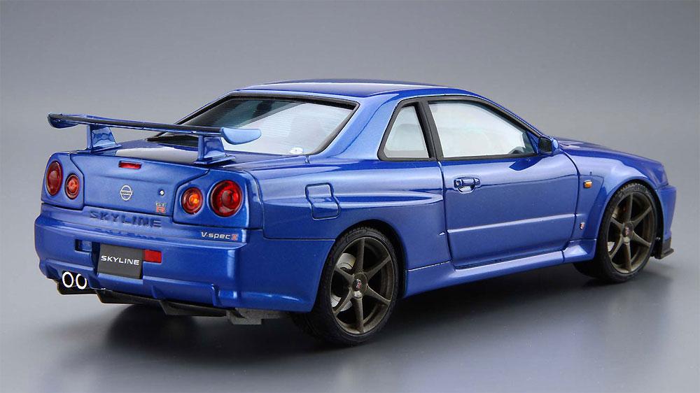 ニッサン BNR34 スカイライン GT-R V-spec2 '02プラモデル(アオシマ1/24 ザ・モデルカーNo.008)商品画像_3