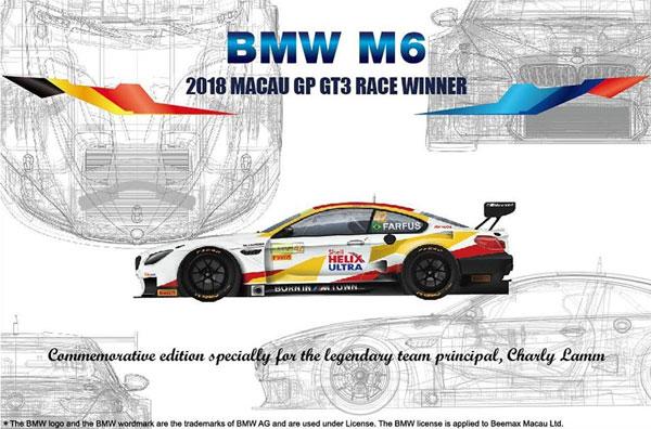 BMW M6 GT3 2018 マカオGP ウィナープラモデル(プラッツプラスチックモデルキットNo.PN24008)商品画像