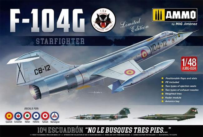 F-104G スターファイタープラモデル(アモLimited Edition Plastic model kitNo.A.MIG-8504)商品画像