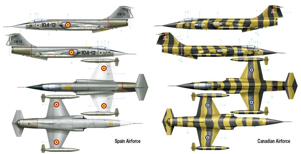 F-104G スターファイタープラモデル(アモLimited Edition Plastic model kitNo.A.MIG-8504)商品画像_2