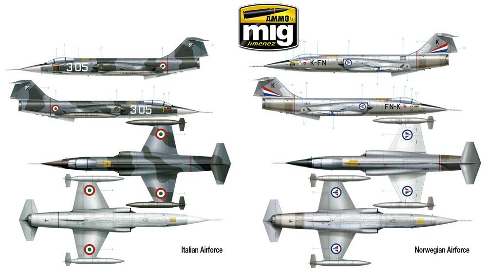 F-104G スターファイタープラモデル(アモLimited Edition Plastic model kitNo.A.MIG-8504)商品画像_4