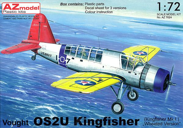ヴォート OS2U キングフィッシャー ホイールタイプ (キングフィッシャー Mk.1)プラモデル(AZ model1/72 エアクラフト プラモデルNo.AZ7624)商品画像